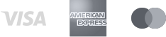 Payment is VISA American Express and Mastercard